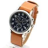 TIMEX タイメックス 腕時計 TW2P62300 WEEKENDER / ウィークエンダー クロノグラフ ミリタリーウォッチ メンズ レディース 時計 アナログ ミリタリー カジュアル ブルー ネイビー ブラウン レザーベルト