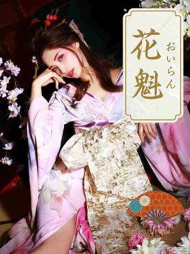 vanityME.【高級着物ドレス】浴衣 桜花魁 天女のような淡い薄ピンク 和柄 本格和装(S・Mサイズ) vyt-170331-5