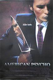 アメリカンサイコ映画ポスター【AMERICAN PSYCHO】 Lサイズ 通販 楽天 販売  プレゼント