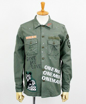 ONE MADE by maxsix(マックスシックス) ミリタリーシャツ Military Shirt MONROE [ONE-289] GREEN