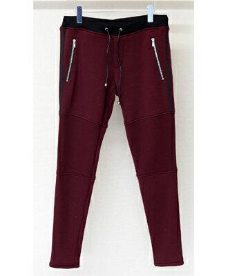 メンズファッション, ズボン・パンツ RESOUND CLOTHING JOHNSON LINE FLEECE SWEAT PT WINE RC10-ST-009