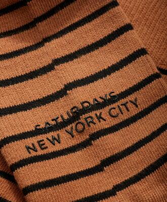 Saturdays NYC ボーダーソックス