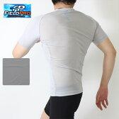 春夏用)FIELD PRO(フィールドプロ)3D設計メッシュ吸汗速乾スポーツインナー 半袖VネックTシャツ