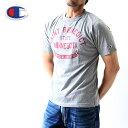 送料無料【チャンピオン】カレッジTシャツ【オックスフォードグレー】【c3-z345】染み込みプリント