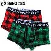 HANG TEN(ハンテン)メンズ カジュアルボクサーパンツ(まえひらき)HANGTEN BB-021 チェック柄