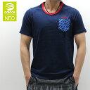 2015春夏新作アディダス (adidas) モノグラムTシャツ(ネイビー)メンズアパレルKBV62(胸ポケット付き)人気 ブランド