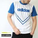 2016春夏新作アディダス (adidas)メンズ NEOロゴ ピンストライプ半袖Tシャツ(BIO49)綿100%人気 ブランド