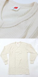 Hanes(ヘインズ)サーマル長袖丸首tシャツ(MH4118)メンズ