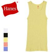 Hanes ヘインズ タンクトップ 綿100% コットン メンズ リブタンクトップ(HM2-F201)