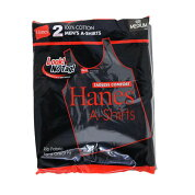 2枚組みHanesヘインズ赤ラベルのタンクトップ綿100%Aシャツコットンメンズテレコタンクトップ(HM2-K701)