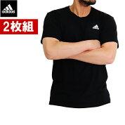 アディダスの吸汗速乾tシャツ/春夏/2枚セット/丸首/メンズ/adidasTシャツ