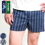 【2色セット】高島ちぢみのトランクス/涼しい/高島縮み/トランクス/前ひらき/綿100%/クレープ/日本製