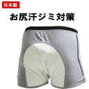 日本製 ケツ汗パッド付きボクサーパンツ 前開き 特許実用新案登録 お尻の汗でお悩