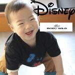 キッズ用ミッキー柄Disney(ディズニー×ボディーワイルド)半袖tシャツ
