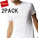 ヘインズtシャツ/2枚組み/綿100%/メンズ/半袖Tシャツ/パックt/メンズインナー/2枚セット/Hanes/ホワイト/アンダーウエア/下着/肌着/ヘインズ tシャツ セット 2枚 パック 白tはヘインズ