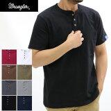 Wrangler ラングラー ヘンリーネック 半袖tシャツ/メンズ/1000円ポッキリ/綿100%/コットン/Tシャツ