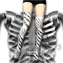\マラソン限定1500offクーポンあり/ヌードソックス NudeSOX マッドサイエンス アートタイツ デザインタイツ 柄タイツ コスプレ 仮装 リアル 質感 レディース 女性 ニーハイソックス 骨 Bones レントゲン モノクロ コラボ 骸骨 Gothic&Lolita Bible