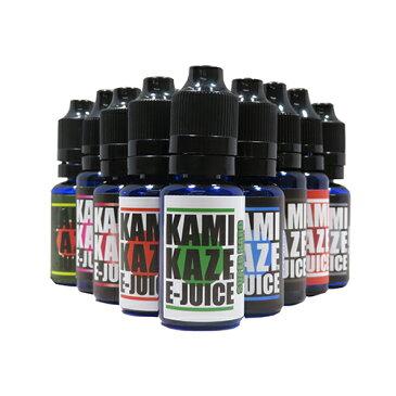 KAMIKAZE E-JUICE(カミカゼ)15ml ベプログ プルームテック 電子タバコ リキッド 電子たばこ 国産 VAPE ベイプ フレーバー リキッド 国産リキッド ベプログ 日本製 ニコチン タール0 大容量 メンソール レッドブル