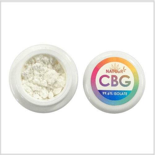 CBG アイソレート パウダー NATUuR 500mg CBG99.6% Isolate Powder画像
