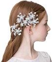 髪飾り フォーマル Uピン 3個セット 花飾り ヘアアクセサリー 子供...