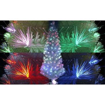 【訳あり・足三本なし】120cm ファイバーツリー ホワイト クリスマスツリーに最適! 高輝度LED[送料無料(一部地域を除く)]【YDKG-kd】[訳有]