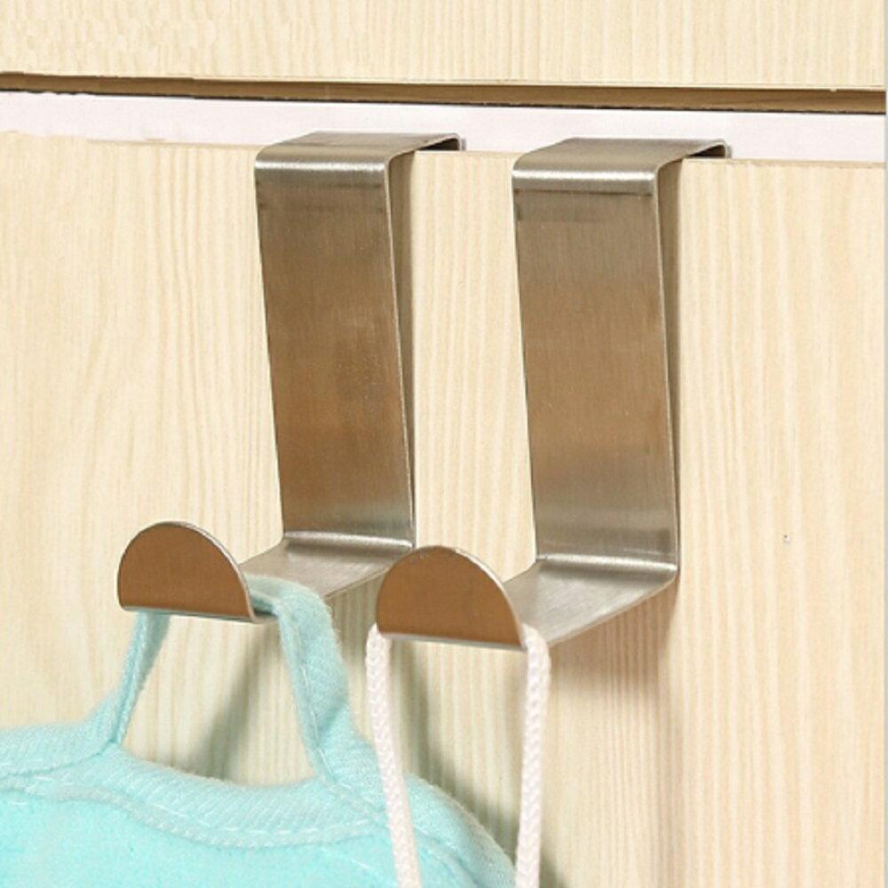 ステンレス製 ドアハンガー 2個セット シンプル ドアフック 扉 ドア用 ホルダー[定形外郵便、送料無料、代引不可]