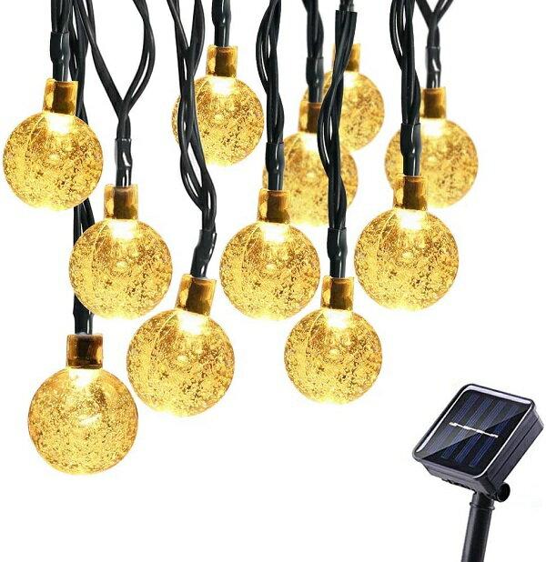 バブル型 30灯 ソーラーライト イルミネーション パーティーナイト LED 照明 防水 イルミネーション ライト[送料無料(一部地域を除く)]