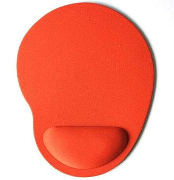 リストレスト一体型マウスパッド 《オレンジ》 マウスパッド 低反発 滑り止め 疲労軽減 腕 手首クッション 手 疲れ[定形外郵便、送料無料、代引不可]