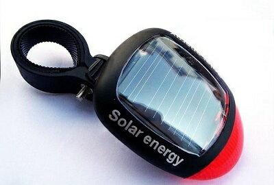 自転車用 ソーラーテールライト 赤色 点灯 点滅 LEDリアライト[定形外郵便、送料無料、代引不可]