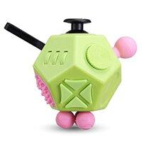 12面 フィジェットキューブ Fidget Cube フィジェットトイ ストレス解消キューブ 無限キューブ (グリーン)[定形外郵便、送料無料、代引不可]