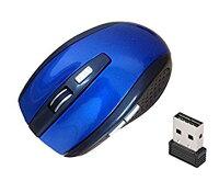 マウス ワイヤレスマウス 《ブルー》 USB 光学式 6ボタン マウス 無線 2.4G[その他PC]【YDKG-kd】【smtb-KD】[定形外郵便、送料無料、代引不可]