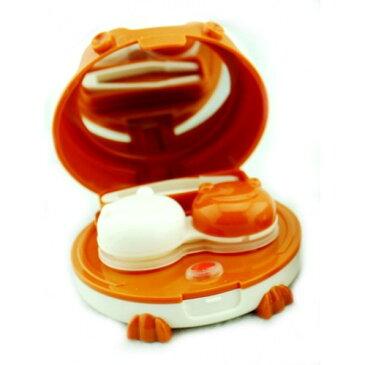 カエル型 携帯用 コンタクトレンズクリーナー 《オレンジ》 洗浄器 クリーナー カラコン ソフト ハード[メール便発送、送料無料、代引不可]【YDKG-kd】【smtb-KD】