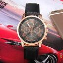 腕時計 時計 レディース アナログ クォーツ ウォッチ おしゃれ シンプル クオーツ腕時計 (ブラック)[定形外郵便、送料無料、代引不可] 1
