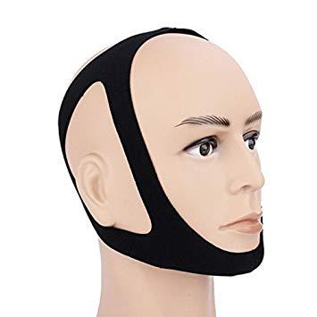 鼻呼吸促進マスク ブラック いびき防止 サポーター 顎固定サポーター 簡単脱着 無呼吸症候群 口呼吸[定形外郵便、送料無料、代引不可]
