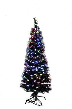 150cm ファイバーツリー ブラック クリスマスツリーに最適! 高輝度LED【YDKG-kd】 [クリスマス][ツリー][送料無料(一部地域を除く)]