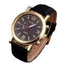 腕時計 時計 メンズ アナログクォーツウォッチ #54 ホワイト文字盤/レザーストラップ 高級感 シンプル ...