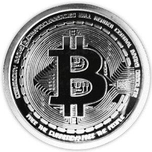 イミテーション ビットコイン bitcoin風 仮装通貨 硬貨 (銀)[定形外郵便、送料無料、代引不可]