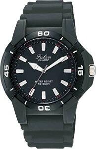 [シチズン キューアンドキュー]CITIZEN Q&Q 腕時計 Falcon (フォルコン) スポーツタイプ アナログ表示 10気圧防水 ブラック Q596-851 メンズ[定形外郵便、送料無料、代引不可]