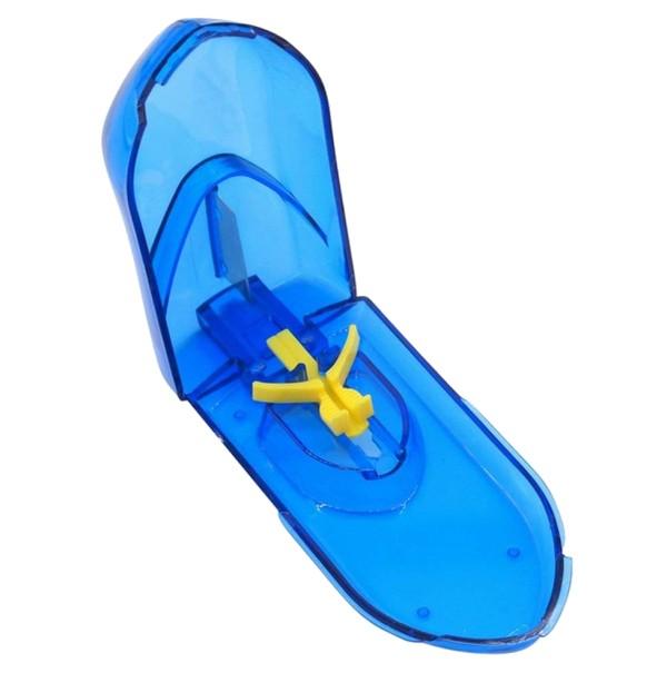 ピルカッター 錠剤カッター 固定台付 錠剤 携帯薬入れ ピルケース 千錠カッター サプリメントケース (ブルー)[定形外郵便、送料無料、代引不可]