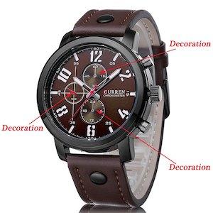 Curren 腕時計 ブラウン メンズ スポーツ軍事品質 PU レザー バンド水晶手首時計 f0510-121a[時計][ギフト]【YDKG-kd】【smtb-KD】[定形外郵便、、代引不可]