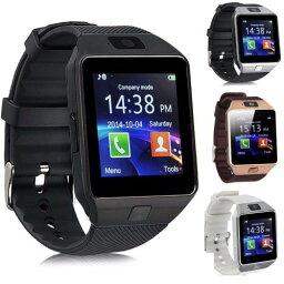スマートウォッチ DZ09 《ブラック》 タッチパネル 多機能 Bluetooth 腕時計 カメラ搭載 通話 ボイスレコーダー【smtb-KD】[スマホ][定形外郵便、送料無料、代引不可]