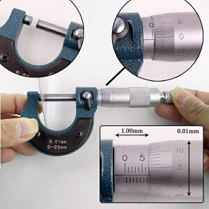 ノギスよりも高精度な測定器マイクロメータ0.01mm〜25.00mm[メール便発送、送料無料、代引不可]【YDKG-kd】【smtb-KD】[計測器]