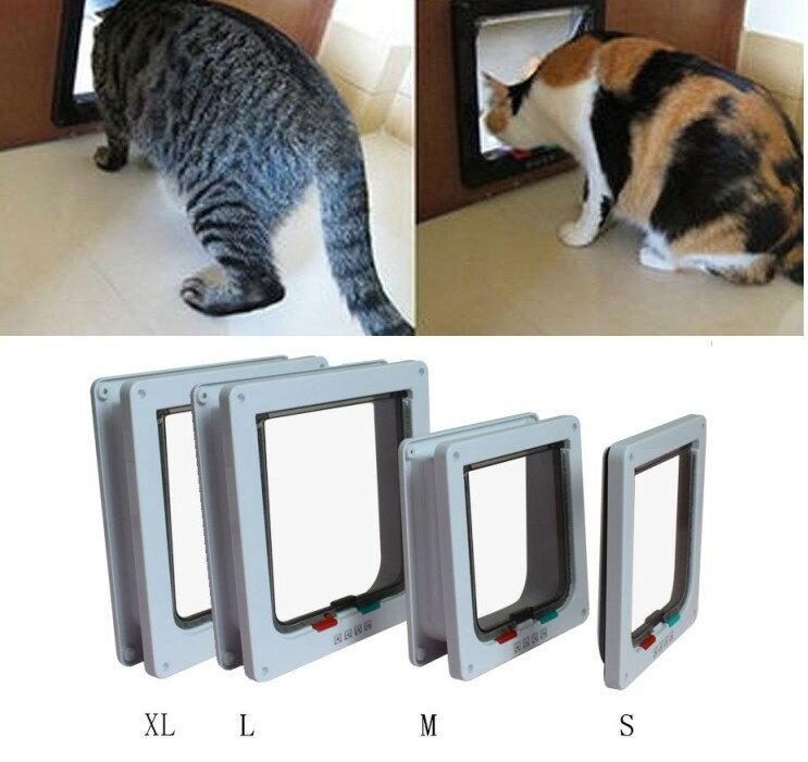 犬 猫用 ペットドア キャットドア 《Mサイズ》 《ブラウン》 出入り口【YDKG-kd】[(一部地域を除く)]