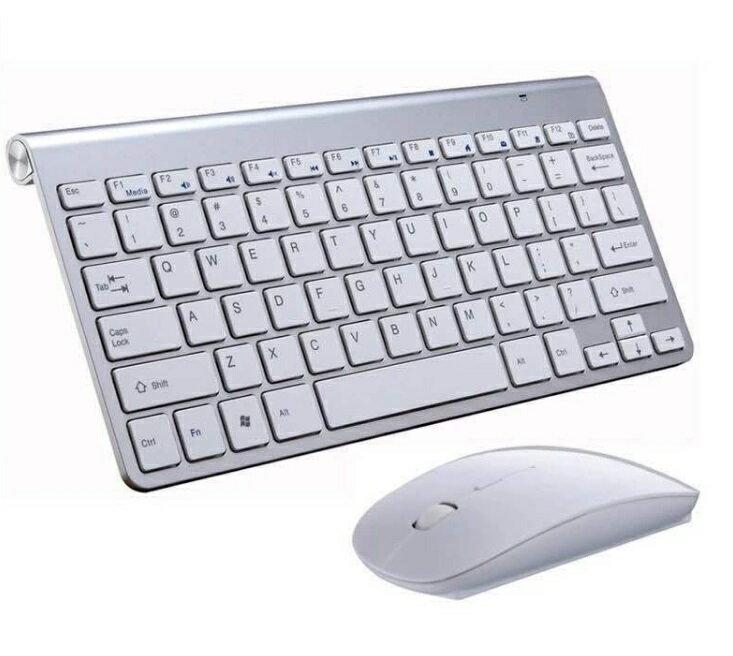 USB 薄型 無線 英語キーボード&マウスセット 《ホワイト》 美デザイン シンプル コンパクト[送料無料(一部地域を除く)]
