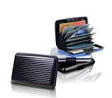 ワンタッチロック式 カードケース 《ブラック》 6ポケット ジャバラ式 収納【smtb-KD】[定形外郵便、送料無料、代引不可]