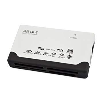 6in1 メモリーカードリーダー micro SD MMC SDHC CF メモリースティック XDピクチャーカード メモリーカード 読み書き【smtb-KD】[カードリーダー][定形外郵便、送料無料、代引不可]