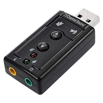 7.1ch USB 外部 サウンドカード オーディオ アダプタ USB バスパワー ヘッドホンジャック マイクジャック[メール便発送、送料無料、代引不可]【YDKG-kd】【smtb-KD】[その他PC]