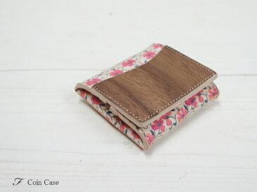VARCO REAL WOOD F コインケース ボックス 革 本革 革製 レザー 日本製 花柄 手作り オリジナルデザイン レディース かわいい おしゃれ 天然 木製