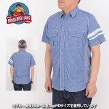 桃太郎ジーンズモモタロウジーンズMOMOTAROJEANS06-037[a6s]サイドリブシャンブレーシャツ半袖