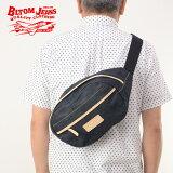 クーポンで15%OFF! BLTOM ブルトム B-1006[□] 14oz 14オンス やや厚手 日本製 デニム 小判型ボディーバッグ ラギッドブルー ジーンズ ハーレー ライダース レザー 革 国産デニム メンズ 男性 鞄